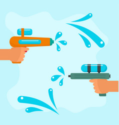 songkran battle background flat style vector image