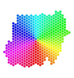 Spectrum hexagon sudan map vector