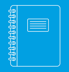 Spiral notepad icon outline vector