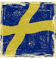 Swedish grunge flag vector image vector image