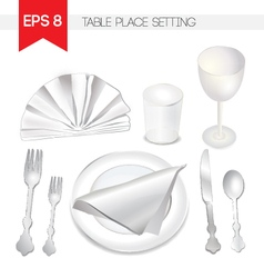 Table Place Setting vector image