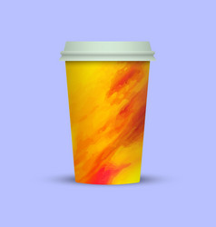 Takeaway watercolor coffee cup vector