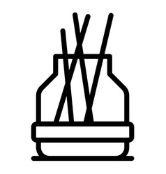 Therapy diffuser icon outline style vector