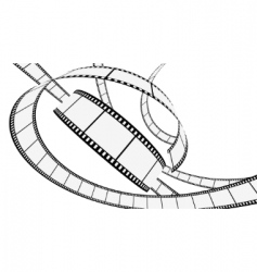 Vector blank film strip vector