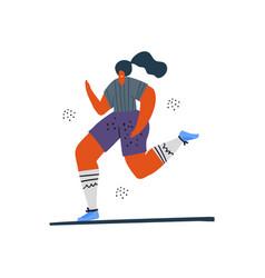 woman jogging running hand drawn vector image