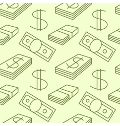 Currency seamless pattern Dollar sign texture vector image vector image