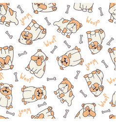 decorated bulldog pattern vector image