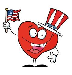 Heart In Patriotic Hat vector image vector image