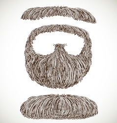 Lush retro mustache and beard vector image vector image