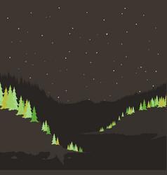 river mountain2 vector image