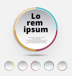 abstract 3d circle label colorful border with a vector image vector image