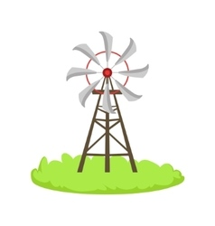 Energy Windmill Structure Cartoon Farm Related vector image vector image