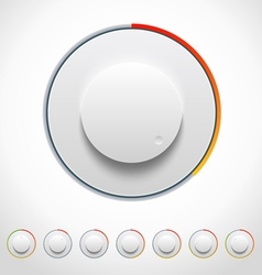 Lights Knobs Set for Web and Mobile vector image