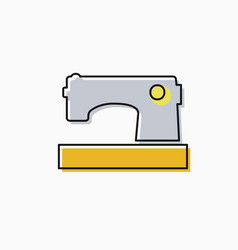 linear icon of craft vector image