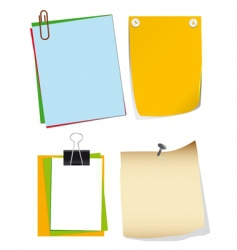 note paper vector image vector image