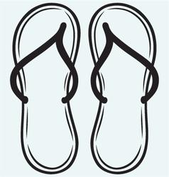 Pair of flip-flops vector