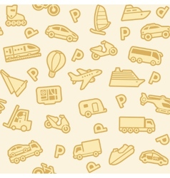 seamless gold transport icons vector image vector image