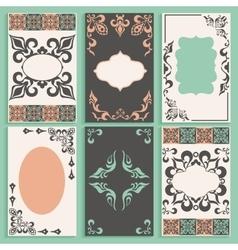 Set cards arabesque ornament frameworks vector image