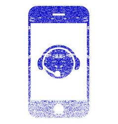 Smartphone operator contact head textured icon vector