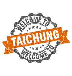taichung round ribbon seal vector image