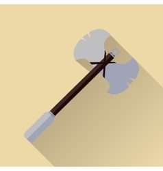 Two blade battle axe isolated Medieval Weapon vector image vector image