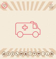 ambulance line icon vector image