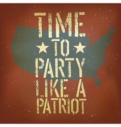 american patriotic poster vector image vector image