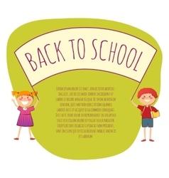 Back to school conept vector image vector image