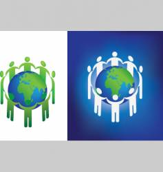 eco globe ring vector image