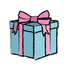 gift box decoration ribbon bow wrap vector image