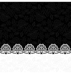 greeting card with lace border vector image vector image