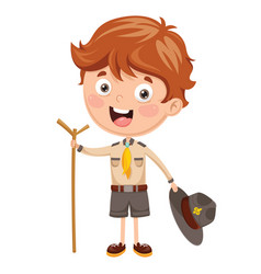 of a scout kid vector image