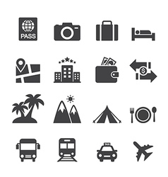 travel icon vector image