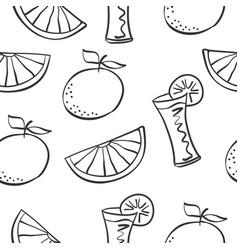 art drink theme doodles vector image