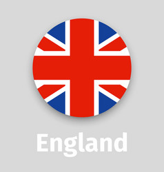 england flag round icon with shadow vector image