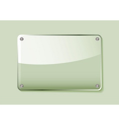 green glass business name plate transparent with g vector image