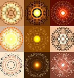 Set of Diwali Festival Designs vector image