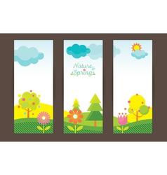 Spring Season Object Icons Backdrop vector image
