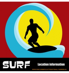 surfer background vector image