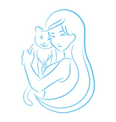 Symbol of Veterinary clinic vector image