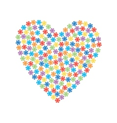 valentine made of flowers vector image