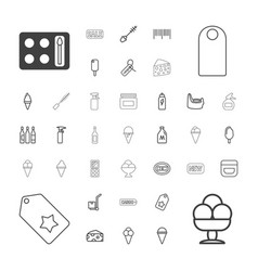 37 product icons vector