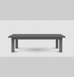 3d table for object presentation empty black top vector image