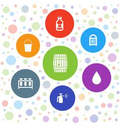 7 liquid icons vector
