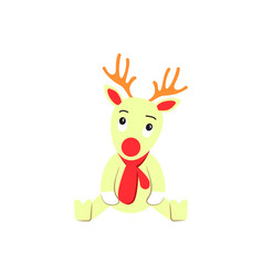 a deer of christmas icon holiday day vector image