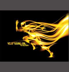 Abstract flaming runner vector