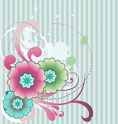 Abstract flower art vector