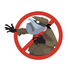 anti theft sign vector image