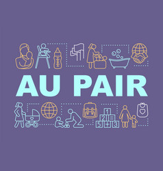 Babysitting au pair concepts banner vector
