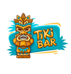 Banner with tiki ethnic vector